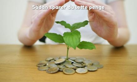 Sådan sparer du lette penge